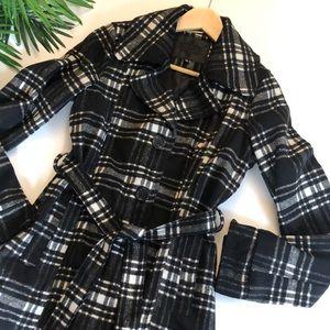 Jou Jou women's plaid pea coat size medium